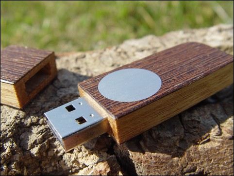 USB-Stick 'Face' in Wenge