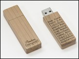 Holz USB-Stick 'Woody' in Kirsche